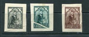 Romania 1922 3 color proofs Rejected design Alba Iulia 5 lei Paper Fold MH  6705