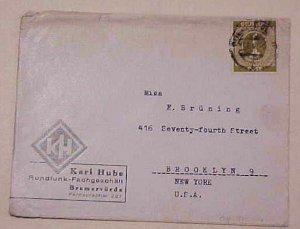 GERMAN  1M NUMERAL SINGLE 1946 BREMERVORDE UNPRICED AS SINGLE