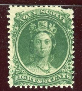 CANADA; NOVA SCOTIA 1860 early classic QV issue fine Mint hinged 8.5c. value