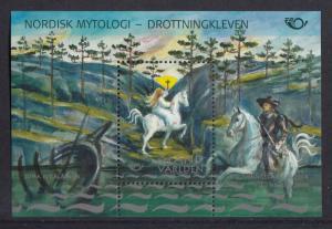 Aland MNH 2008 Souvenir sheet Mythical Princess Signhild at Drottningkleven