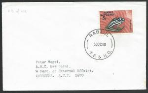 PAPUA NEW GUINEA 1968 cover, 5c Frog, RABAUL cds...........................25691