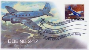 AO-3916-2, 2005, American Advances in Aviation, Boing 247, BW Pictorial, Add