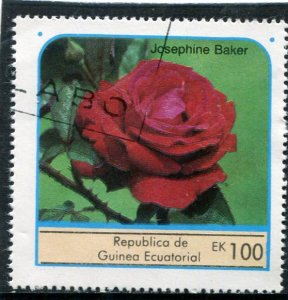 Equatorial Guinea 1976 ROSES JOSEPHINE BAKER 1 value Perforated Fine Used