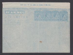 Ceylon H&G FG7, mint. 1945 35c KGVI aerogramme, F-VF
