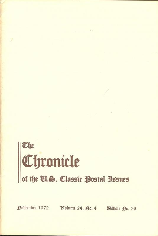 The Chronicle of the U.S. Classic Issues, Chronicle No. 76