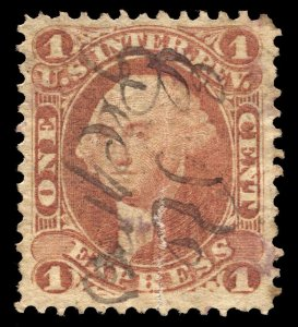 01284 U.S. Revenue Scott R1c SHORT TRANSFER AT BOTTOM, very scarce but faulty.