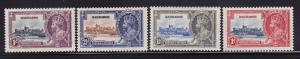 Barbados Scott # 186 - 189 XF-OG mint never hinged scv $ 45 ! see pic !