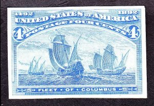 US 233P3 4c Columbian Exposition Proof on India Paper SCV $95