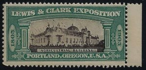 1905 Lewis & Clark Exposition Cinderella Misspelled Agricultrial Building MNH