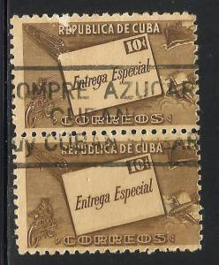 Cuba 1945 Special Delivery Scott# E12 Used pair