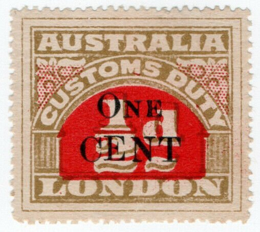(I.B) Australia Revenue : Customs Duty 1c on ½d OP