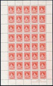 Nauru SG40 1 1/2d Scarlet 1937 Coronation U/M Sheet