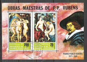 Eq. Guinea 1974 Painting, Rubens, perf. sheet, used N.022