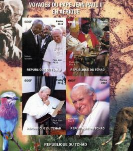 Chad 2012 Pope John Paul II in Africa Sheet Imperforated mnh.vf