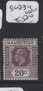 MAURITIUS (P1905B)  KGV 20 C SG  234   MOG