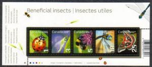 CANADA - #2238A Beneficial Insects Souvenir Sheet - MNH
