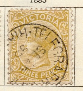 Victoria 1885 Early Issue Fine Used 3d. NW-11571