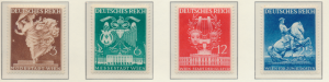 Germany Stamps Scott #502 To 505, Mint Hinged - Free U.S. Shipping, Free Worl...