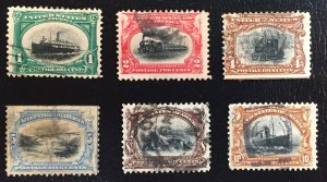 US #294-299 Used F to XF: Pan-American Exposition 1901 (Complete Set)