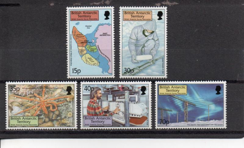 British Antarctic Territory 280-284  MNH