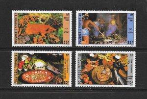 FRENCH POLYNESIA #422-23B  TRADITIONAL FOODS  MNH