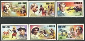 LIBERIA Sc#709-714, C209 IMPERFORATE 1975 Albert Schweitzer Set & S/S OG MNH