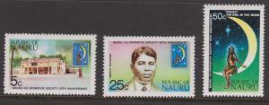 Nauru 1973 Nauru Cooperative Society Sc#105-107 MNH