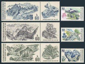 Czechoslovakia 1640-label-1645,MNH.Mi 1892-1897-zf. Tatra Mountain Park,1969