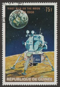 Guinea, Africa,Scott#  545, CTO, TOPICAL, earth, moon, space, rocket, #BZ-5