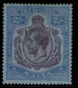 MALTA GV SG103, 2s purple & blue/blue, M MINT. Cat £70.