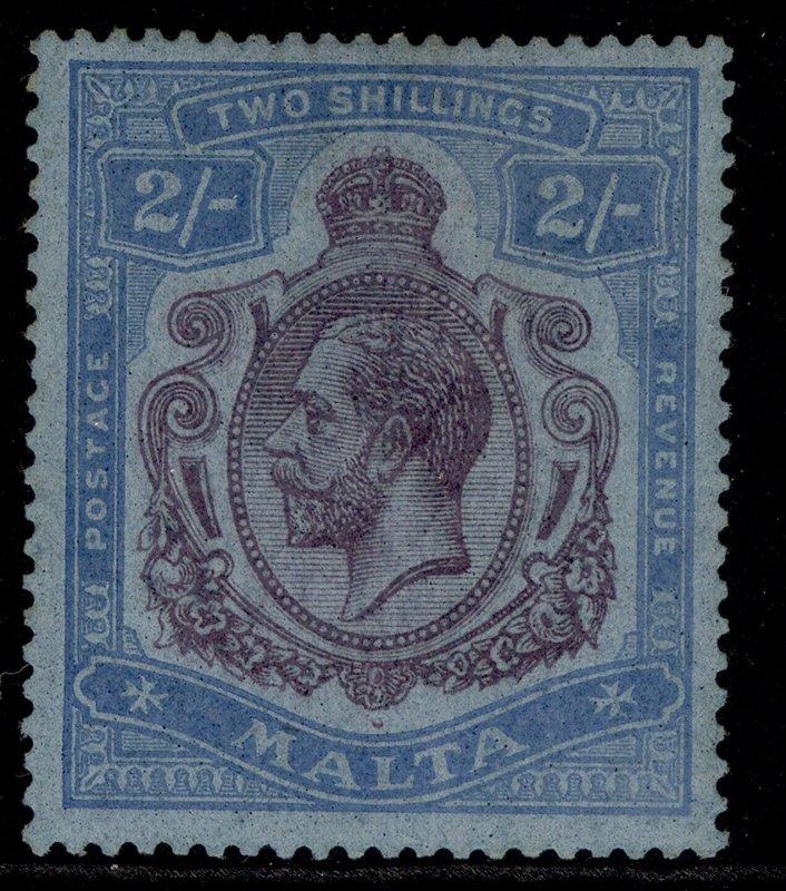 MALTA GV SG103, 2s purple & blue/blue, M MINT. Cat £70.