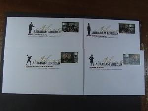 U.S.# 4380-4383--COMPLETE SET ON 4 FIRST DAY COVERS--LINCOLN---2009