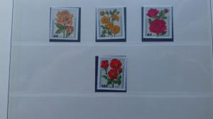 Germany 1982 Charity Stamps - Roses Mint