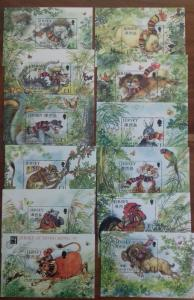 Jersey 1996 to 2007 Chinese Lunar Years Complete Set Mint