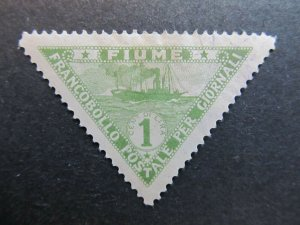 A4P5F19 Fiume Newspaper Stamp 1920 1c mh*