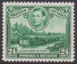 British Guiana - 1938 George VI 24c Watermark Upright VF mint #234a