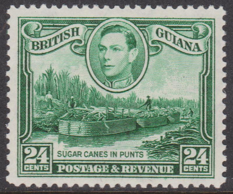 British Guiana - 1938 George VI 24c Watermark Upright VF mint #234a