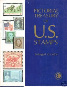 Pictorial Treasury of US Stamps. 1,250 stamps, enlarged with much detail