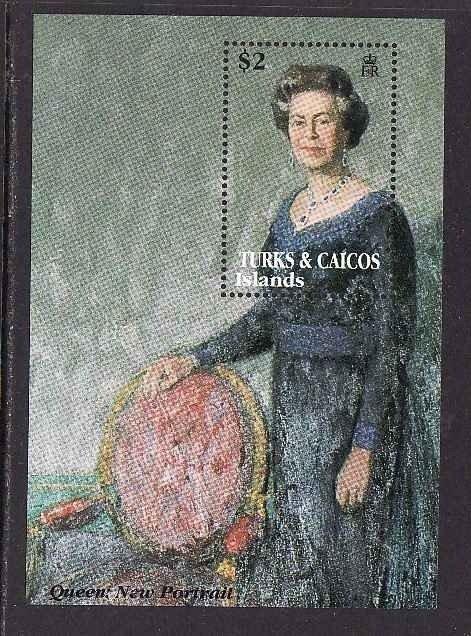 British Royalty-Turks & Caicos-Sc#1024-unused NH sheet-QE