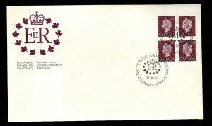 Canada-Sc#926A-stamps on FDC-LR blank corner block-QEII-1987-