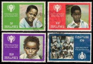 MALAWI 1979 #350-353 CPL SET USED, INTERNATIONAL YEAR OF THE CHILD