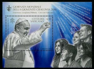 HERRICKSTAMP NEW ISSUES VATICAN CITY Sc.# 1627 World Youth Day 2016 S/S