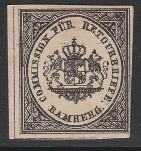GERMANY Retourbriefe - Returned Letter Stamp - an old forgery - Bamberg.....B226