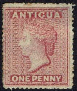 ANTIGUA 1863 QV 1D WMK STAR