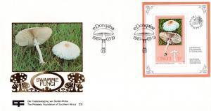 Ciskei - 1987 Philatelic Foundation Mushrooms MS FDC