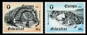 Gibraltar 447-448 two sets, MNH. Mi 463-464.EUROPE CEPT-1983. St George's Hall,