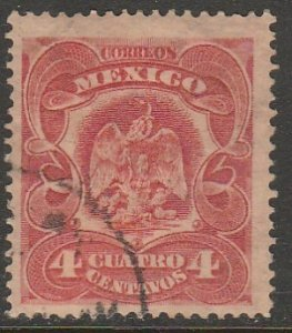 MEXICO 306, 4¢ EAGLE COAT OF ARMS. USED. VF. (931)