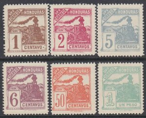 HONDURAS  An old forgery of a classic stamp - 6 UPU Railway issue...........D624