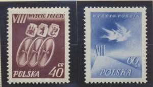 Poland Stamps Scott #680 To 681, Mint Never Hinged - Free U.S. Shipping, Free...