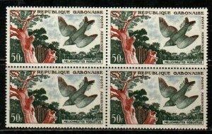 Gabon Scott C4 Mint NH block (Catalog Value $19.00)